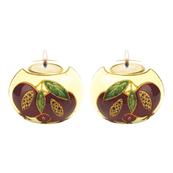 Pomegranate Candle Holders