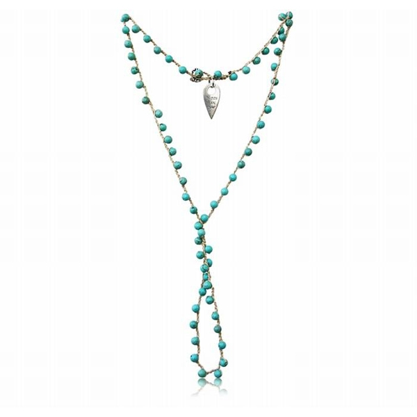 Kabbalah Necklace with Turquoise Stones