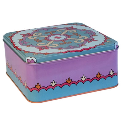 Decorative Tin Box - Oriental