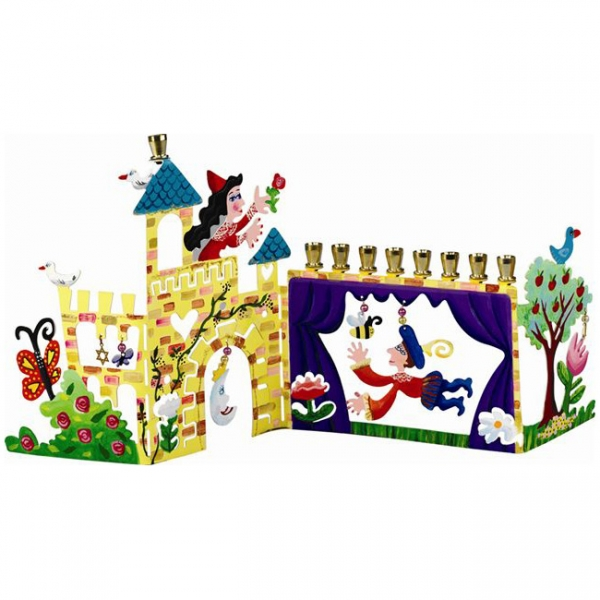 Children's Hanukkah Menorah - Romeo and Juliet