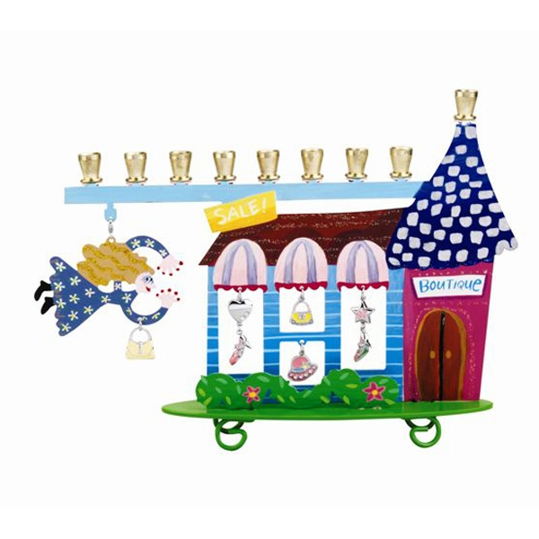 Children's Hanukkah Menorah with Shopping Boutique