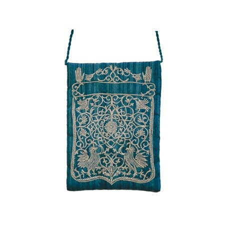 Embroidered Bag - Oriental Blue