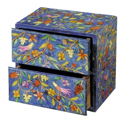 Large Wooden Jewelry Box - Oriental