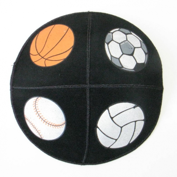 Sports Kippot Set - 4 Sport  Kippah set