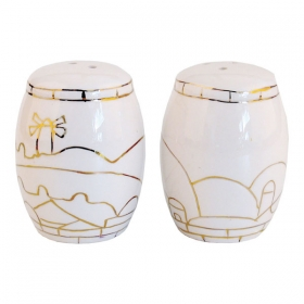 Salt and Pepper Shakers - Jerusalem White