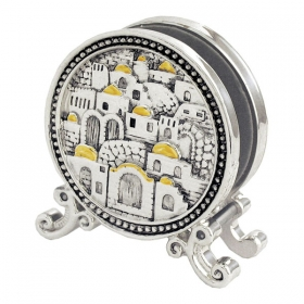 Silver Napkin Holder - Jerusalem