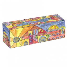 Travel Hanukkah Menorah - Oriental Jerusalem Design