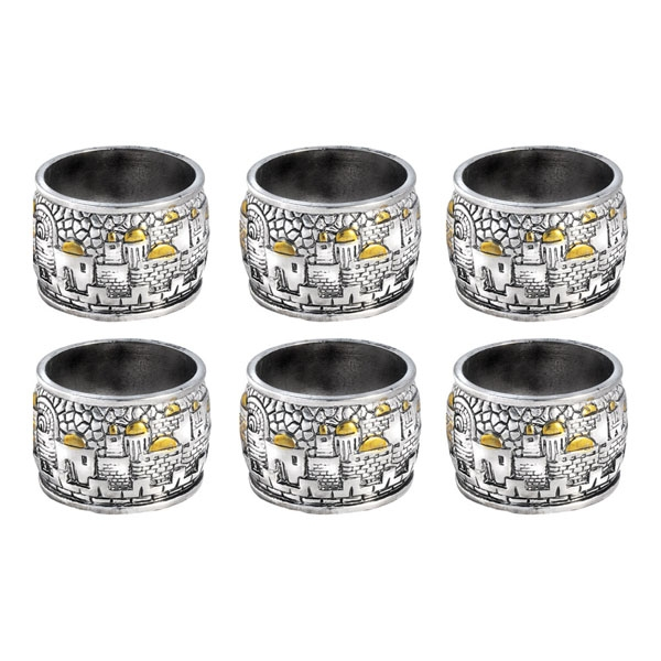 Napkin Rings Set - Jerusalem