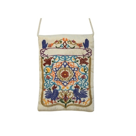 Embroidered Bag - Oriental White