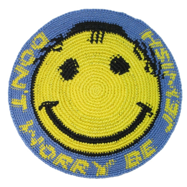 Don't Worry Be Jewish - Smiley Face Kippa - Yarmulke