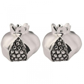 Silver Plated Pomegranate Candle Holders