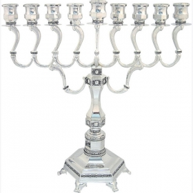 Large Hanukkah Menorah - Dot Design