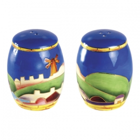 Salt and Pepper Shakers - Jerusalem Design