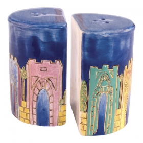 Salt and Pepper Shakers - Jerusalem Gates