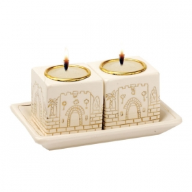Jerusalem Gates Candlesticks