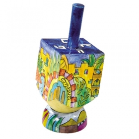 Dreidel Small - Jerusalem Design