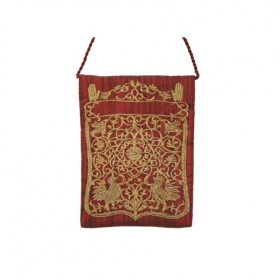 Embroidered Bag - Oriental Maroon