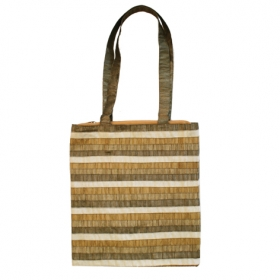 Bag - Striped Patches-Olive Green
