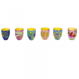 6 Small Kiddush Cups - Seven Species